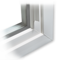 beveled window frame